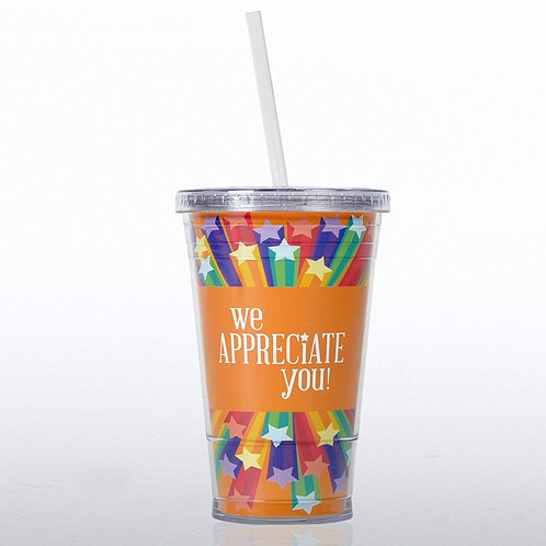 We Appreciate You Twist Top Tumbler