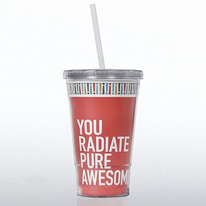Twist Top Tumbler - Exclamations Radiate Pure Awesome