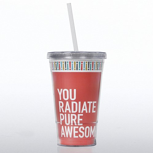 Exclamations Radiate Pure Awesome Twist Top Tumbler