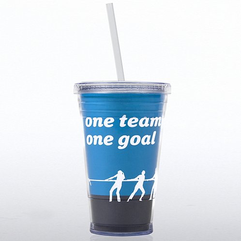 One Team, One Goal Twist Top Tumbler
