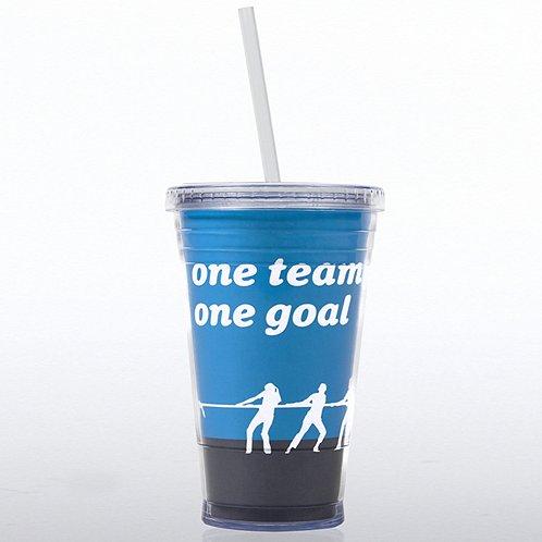 One Team, One Goal Twist Top Tumbler