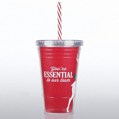 Twist Top Tumbler - Reindeer: Essential Team