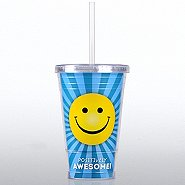 Twist Top Tumbler - Positively Awesome