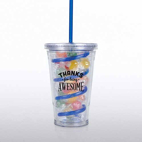 Thanks for Being Awesome Candy-Filled Twist Top Tumbler