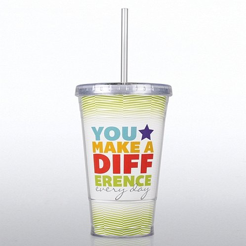 You Make a Difference Every Day Twist Top Tumbler