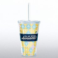 Hollywood Twist Top Tumbler - You are Beyond Awesome