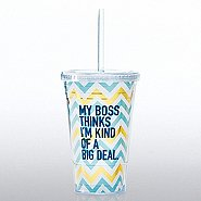 Hollywood Twist Top Tumbler - My Boss...Big Deal