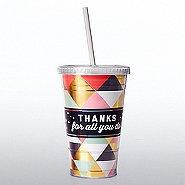 Holiday Hollywood Twist Top Tumbler - Thanks For All You Do!
