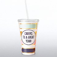 Holiday Hollywood Twist Top Tumbler - Cheers to a Great Year
