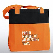 Two-Tone Accent Tote - Proud Member of an Awesome Team