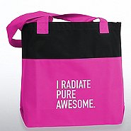 Two-Tone Accent Tote - I Radiate Pure Awesome