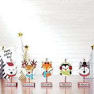 Sparkling Holiday Wooden Memo Clips - Bundle