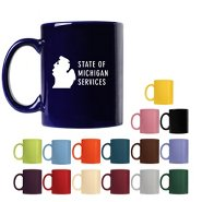 Promotional Ceramic Coffee Mug - Color - ADD YOUR LOGO!