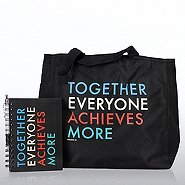 Journal, Pen & Tote Gift Set - T.E.A.M