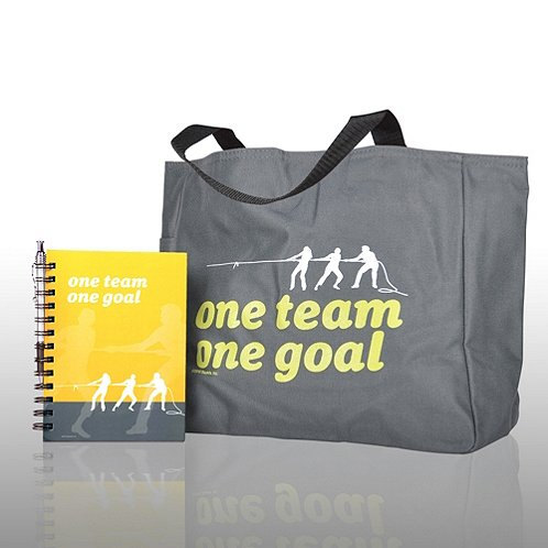 One Team, One Goal Journal, Pen & Tote Gift Set