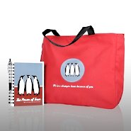Journal, Pen, & Tote Gift Set - Penguins