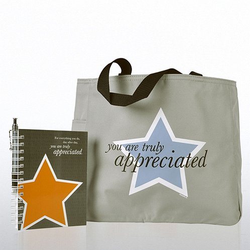 You are Truly Appreciated Journal, Pen & Tote Gift Set