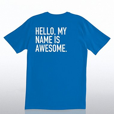 T-Shirt - Royal - Hello, My Name is Awesome