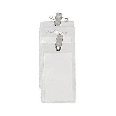 Clear Vinyl Badge Holder - Vertical Credit Card