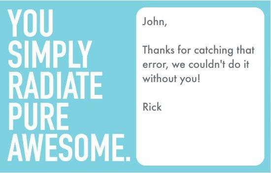 Send free recognition ecards anytime