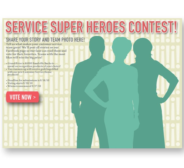 Vote for Your Service Super Hero!