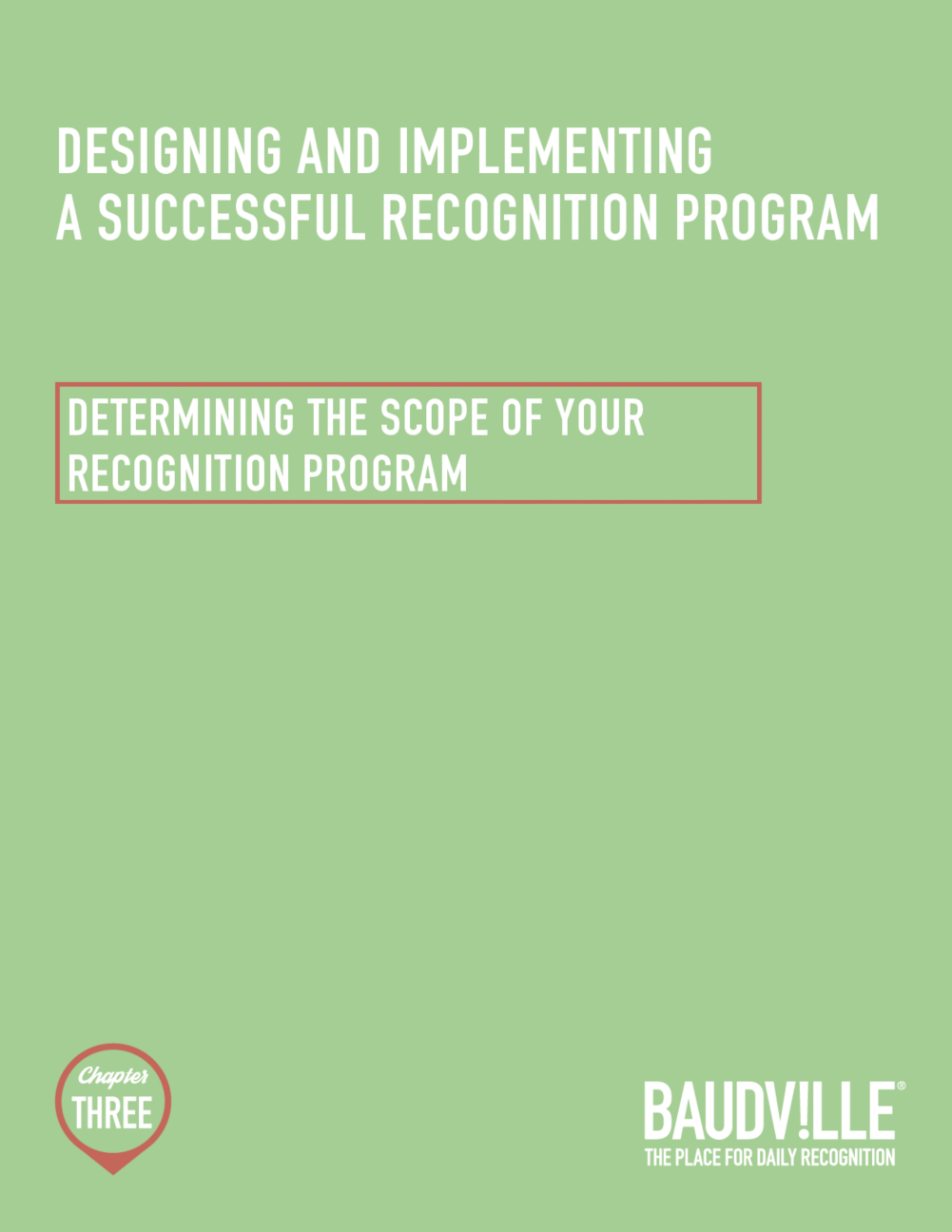 The Joy of Recognition: Chapter Three