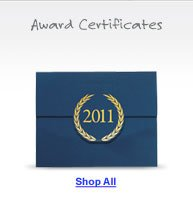 Shop Award Certificates