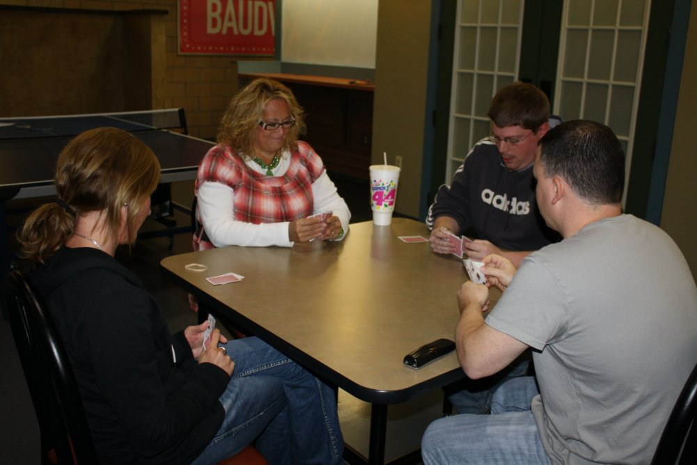 Baudvillians playing Euchre