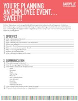 Employee Event Planning Checklist