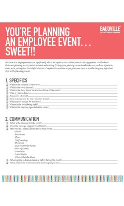 Employee Event Planning Checklist At BaudvilleCom