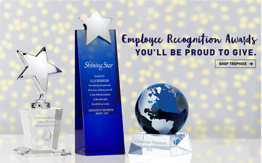 Employee recognition awards you will be proud to give, shop trophies button