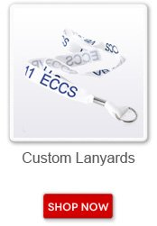 Custom lanyards. Shop now button