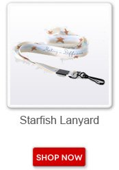 Starfish lanyard. Shop now button