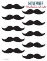 Movember Mustache Cut Outs