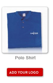 Promotional Product Polo Shirt, Add your logo button