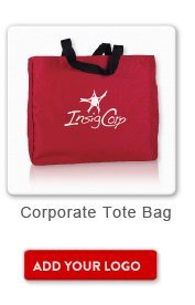 Promotional Product Corporate Tote Bag, Add your logo button