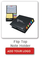 Flip Top Note Holder, Add your logo button
