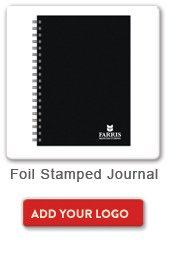Foil Stamped Journal, Add your logo button