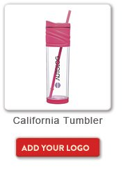 California Tumbler, Add your logo button