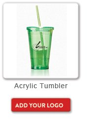 Acrylic Tumbler, Add your logo button
