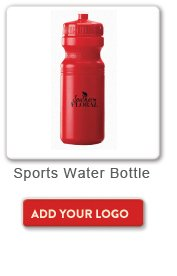 Sports Water Bottle, Add your logo button