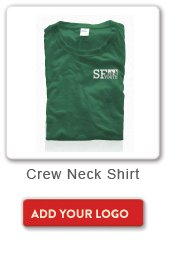 Crew Neck Shirt, Add your logo button