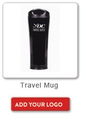 Travel Mug, Add your logo button