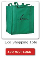 Eco Shopping Tote, Add your logo button