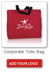 Corporate Tote Bag, Add your logo button