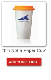 Not a Paper Cup, Add your logo button