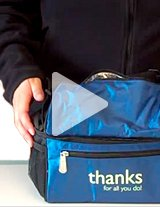 Watch this product video to get a great look at the insulated cooler bags!