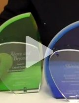 Watch this product video to get a close up of these colorful crystal awards.