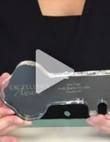 Watch this product video to learn more about these crystal desktop awards.