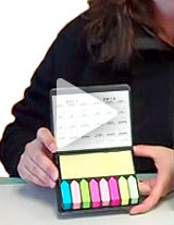 Watch this product video to get a closeup of this handy, functional note holder desktop gift!